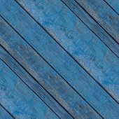 Abstract Seamless Texture For Designers With Old Blue Lumber Decks. Fence Or Enclosure Of Country Ho poster