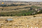 View To Both Sides Of Kidron Valley In Jerusalem