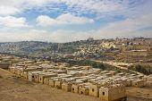 Legendary Jewish Cemetery On Olive Mount In Kidron Valley, Jerusalem