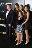LOS ANGELES, CA - MARCH 12: Sylvester Stallone, Jennifer Flavin, daughters at the premiere of Lionsgate's 'The Hunger Games' at Nokia Theater L.A. Live on March 12, 2012 in Los Angeles, California