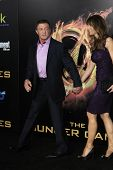 LOS ANGELES, CA - MARCH 12: Sylvester Stallone, Jennifer Flavin at the premiere of Lionsgate's 'The Hunger Games' at Nokia Theater L.A. Live on March 12, 2012 in Los Angeles, California