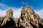 Famous Angkor Wat Head Statues