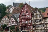 Half Timbered Houses In Miltenberg