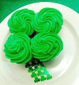 Four Leaf Clover Cupcake Display