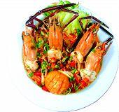 Pla Kung (Thai Spicy River Prawn Salad) poster