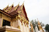 Thai art golden temple