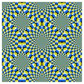 Optische Täuschung Spin Cycle
