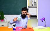 Learning And Education. Exam In College. Male Student In University. Student In College. Bearded Tea poster