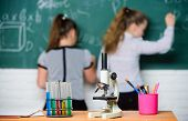 Make Studying Chemistry Interesting. Pupil At Chalkboard On Chemistry Lesson. Educational Experiment poster