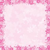 Soft Pink Floral Background, Vector Template for your Text or Design