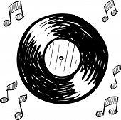 Vinyl record sketch