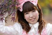japanese girl in lolita cosplay fashion