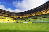 GDANSK, POLAND - FEBRUARY 7: Newly built PGE Arena stadium for 43,615 spectators. The stadium was bu