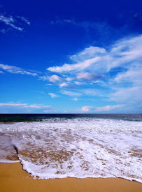 picture of summer beach  - beautiful beach - JPG