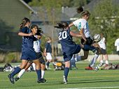Girls Varsity Soccer Ball Control Jump