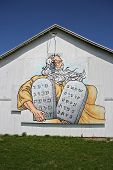 Barn Size Moses And The Ten Commandments