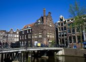 pic of sabbatical  - a shot of Amsterdam canals and typical houses - JPG