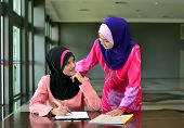 stock photo of muslimah  - Close - JPG