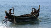 Kerala, South India, March 15: Kerala, South India,  March 15, 2011.  Fishermen
