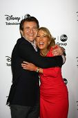 LOS ANGELES - JAN 10:  Robert Herjavec, Lori Greiner attends the ABC TCA Winter 2013 Party at Langha