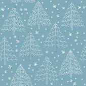 Grunge Christmas Trees Pattern