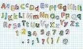 Doodled Grunge Alphabet