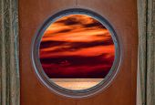 Sunset Through Porthole
