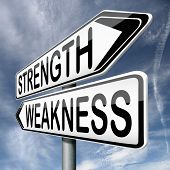 pic of fragile sign  - strength or weakness overcome fragility strong or weak road sign signpost - JPG