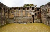 Main Temple At Machu Picchu, Peru