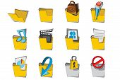 Doodled Folder Icon Collection Set