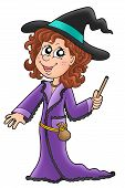 Cute Witch With Wand