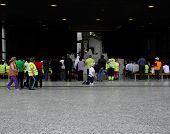 Pilgrims pray at the shrine in Fatima, Portugal