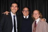 LOS ANGELES - JAN 12:  Jonathan Gordon, David O Russell, Bruce Cohen arrives at the 2013 LA Film Critics Awards at InterContinental Hotel on January 12, 2013 in Century City, CA