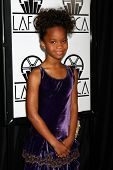 LOS ANGELES - JAN 12:  Quvenzhane Wallis arrives at the 2013 LA Film Critics Awards at InterContinental Hotel on January 12, 2013 in Century City, CA