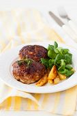 minced meat patties stuffed with vegetables and feta