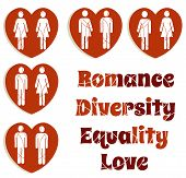 Love Equality And Diversity Graphics Set
