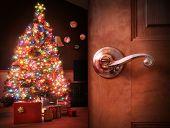 Christmas Tree Surprise Background