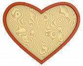 Heart - wooden background
