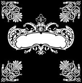 Decorative Royal Vintage Ornate Banner.