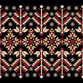 Ilustração do vetor do ornamento do ucraniano padrão sem emenda popular. Ornamento étnico