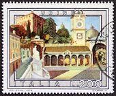 ITALY �?�¢?? CIRCA 1978 a stamp printed in Italy shows an illustration of Udine, Piazza della Libert�?�?�?�  detail, Friuli-Venezia-Giulia region, northeastern Italy. Italy, circa 1978