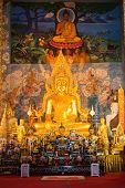Buddha In The Church At Wat Phra That Chor Hae.lanna Northern,thailand.