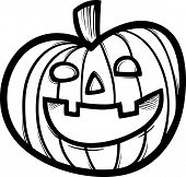 Halloween Pumpkin Cartoon For Coloring