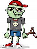 Halloween Zombie Kid Cartoon Illustration