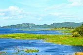 Views Over The Reservoir Kaengkrachan Dam, Phetchaburi Thailand