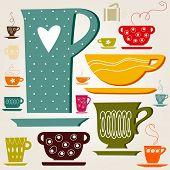 set of color cup. wallpaper