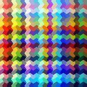 Abstract multicolored random shape blocks illustration.