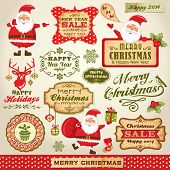 foto of christmas bells  - Set of Cute Santa Claus - JPG