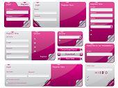 Folded Web Form Design Set