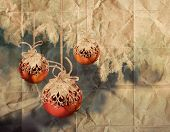 Vintage Christmas Balls Illustration
